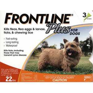 Frontline Plus for Dogs 0-22lbs